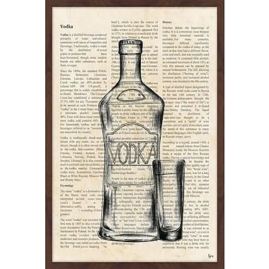 Williston Forge 'Vodka History' Framed Painting Print; 18'' H x 12'' W x 1.5'' D