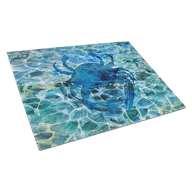 Caroline's Treasures Under Water Glass Crab Cutting Board