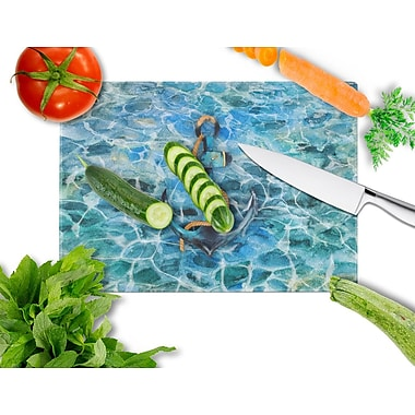 Caroline's Treasures Under Water Glass Anchor and Rope Cutting Board