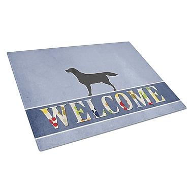 Caroline's Treasures Welcome Dog Glass Labrador Retriever Cutting Board