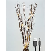 Lightshare LED 16 Light Natural Willow Branches; Brown