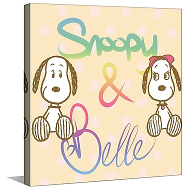 Marmont Hill 'Snoopy & Belle' Painting Print on Wrapped Canvas; 40'' H x 40'' W x 1.5'' D