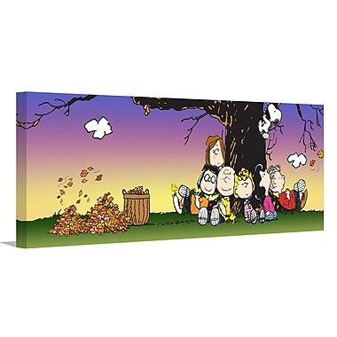 Marmont Hill 'Peanuts Fall' Painting Print on Wrapped Canvas; 20'' H x 60'' W x 1.5'' D