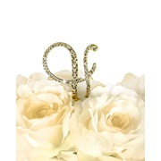 Unik Occasions Victorian Rhinestone Ampersand Wedding Cake Topper; Gold