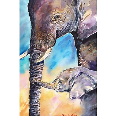 World Menagerie 'Baby's Love' Painting Print on Wrapped Canvas; 18'' H x 12'' W x 1.5'' D