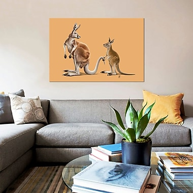 East Urban Home 'Being Tailed' Graphic Art Print on Canvas; 40'' H x 60'' W x 1.5'' D