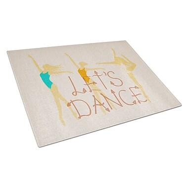 Caroline's Treasures Glass Let's Dance Linen Cutting Board