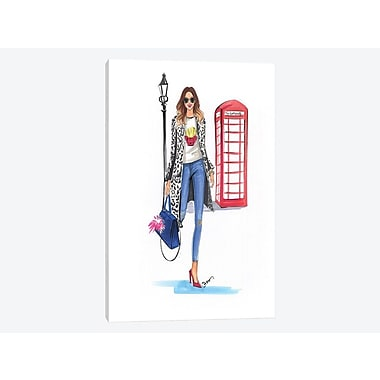 East Urban Home 'London Style' Graphic Art Print on Canvas; 26'' H x 18'' W x 0.75'' D