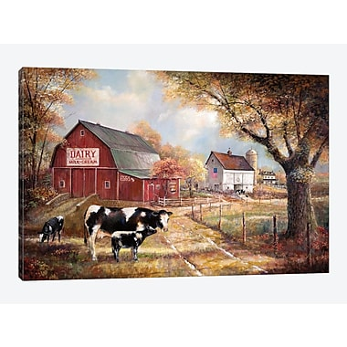 East Urban Home 'Memories on the Farm' Painting Print on Canvas; 12'' H x 18'' W x 1.5'' D
