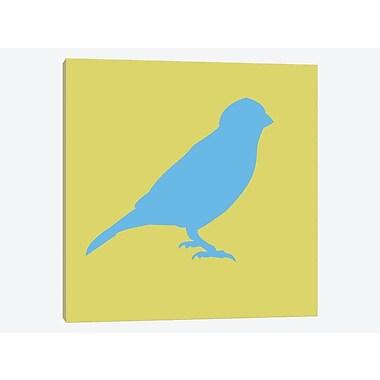 East Urban Home 'Blue Bird' Graphic Art Print on Canvas; 12'' H x 12'' W x 1.5'' D