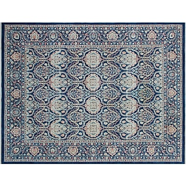 Darby Home Co Bridgette Hand-Knotted Blue Wool Area Rug