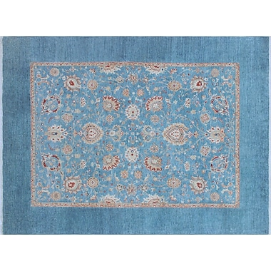 Darby Home Co Bridgette Hand-Knotted Blue Area Rug