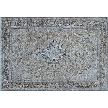 Darby Home Co Aldreda Distressed Hand-Knotted Beige Area Rug