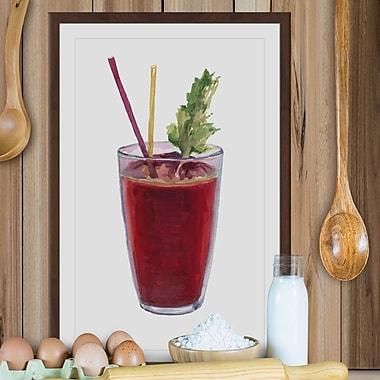 Latitude Run 'Bloody Mary' Framed Painting Print; 36'' H x 24'' W x 1.5'' D