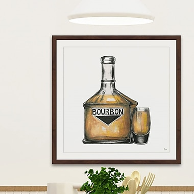 Latitude Run 'Bourbon Mood' Framed Painting Print; 32'' H x 32'' W x 1.5'' D