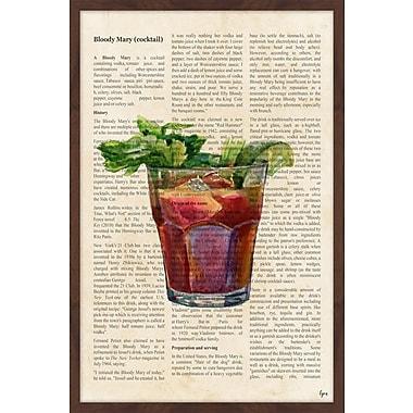Latitude Run 'Bloody Mary History' Framed Painting Print; 36'' H x 24'' W x 1.5'' D