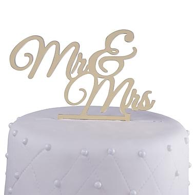 Unik Occasions Mr. & Mrs. Acrylic Wedding Cake Topper; Gold