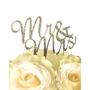 Unik Occasions Sparkling Mr. & Mrs. Cake Topper; Gold