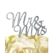 Unik Occasions Sparkling Mr. & Mrs. Cake Topper; Silver