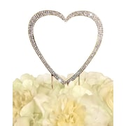 Unik Occasions Sparkling Single Heart Cake Topper; Gold