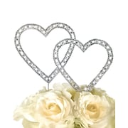 Unik Occasions Timeless Double Heart Cake Topper; 11'' x 8.5'' x 0.2''
