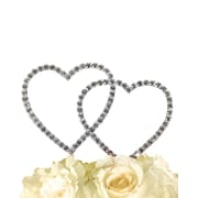 Unik Occasions Simply Elegant Double Heart Cake Topper; 11'' H x 8.5'' W x 0.3'' D