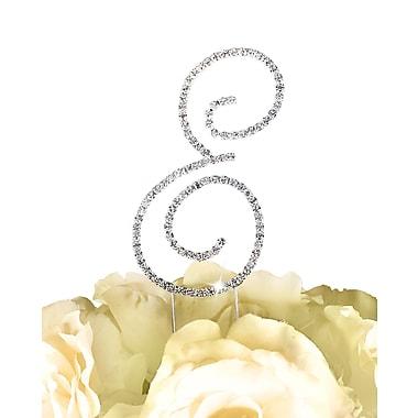 Unik Occasions Simply Elegant Letter Monogram Cake Topper; E