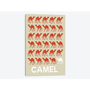 East Urban Home 'Camel of Camels' Graphic Art Print on Canvas; 26'' H x 18'' W x 1.5'' D