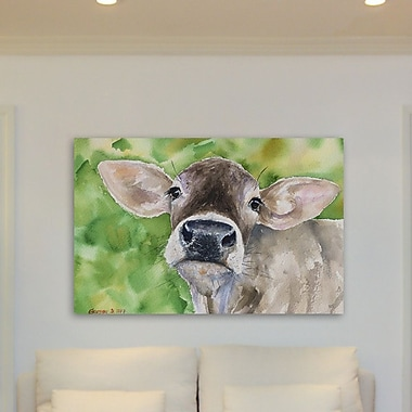 Gracie Oaks 'More than a Cow' Painting Print on Wrapped Canvas; 20'' H x 30'' W x 1.5'' D