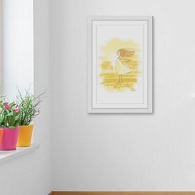 Harriet Bee 'Wind Girl' Framed Painting Print; 60'' H x 40'' W x 1.5'' D