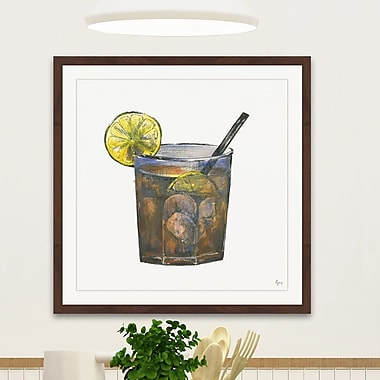 Latitude Run 'Rhum Citron' Framed Painting Print; 12'' H x 12'' W x 1.5'' D