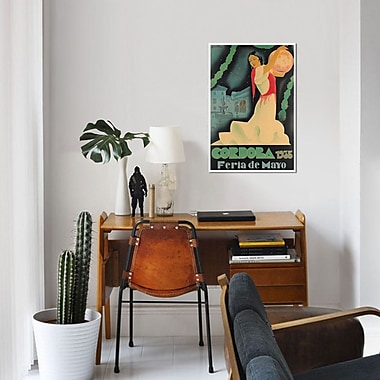 East Urban Home 'Cordoba Feria de Mayo, 1935' Vintage Advertisement on Canvas
