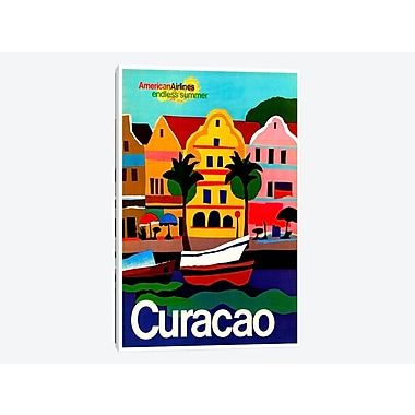 East Urban Home 'Curacao' Vintage Advertisement on Canvas; 18'' H x 12'' W x 1.5'' D
