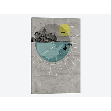 East Urban Home 'Chicago, A Brief Timeline' Graphic Art Print on Canvas; 12'' H x 8'' W x 0.75'' D