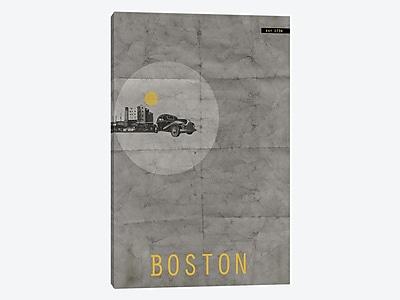 East Urban Home 'Boston, Est. 1734' Graphic Art Print on Canvas; 18'' H x 12'' W x 1.5'' D