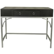 Everly Quinn Elroy Console Table; Black