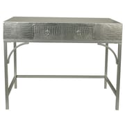 Everly Quinn Elroy Console Table; Silver
