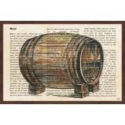 Fleur De Lis Living 'Mother of the Beer' Framed Painting Print; 12'' H x 18'' W x 1.5'' D
