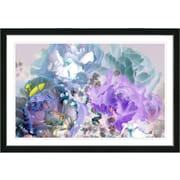 Latitude Run  Purple Blue Pastel Scented Bloom  Framed Oil Painting Print; Black