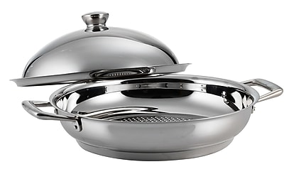 Tramontina Limited Editions Stainless Steel Round Braiser w/ Lid; 12'' W