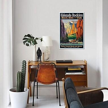 'Colorado Rockies - Black Hills And Utah: National Parks Year, 1934' Vintage Advertisement on Canvas