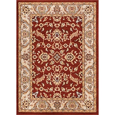 Charlton Home Giles Traditional Red Area Rug; 5'3'' x 7'3''