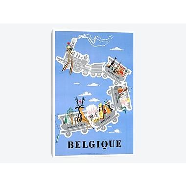 East Urban Home 'Belgique (Belgium) II' Vintage Advertisement on Canvas; 40'' H x 26'' W x 0.75'' D