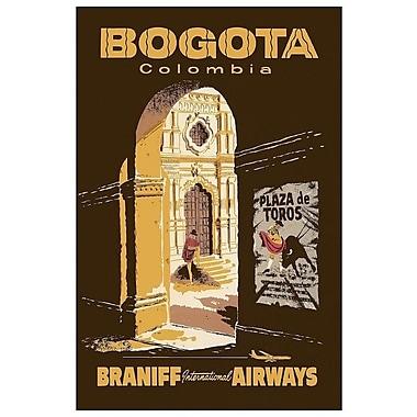 East Urban Home 'Bogota, Colombia - Braniff International Airways' Vintage Advertisement on Canvas