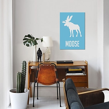 East Urban Home 'Moose III' Graphic Art Print on Canvas; 26'' H x 18'' W x 1.5'' D