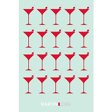 East Urban Home 'Martini Lover III' Graphic Art Print on Canvas; 60'' H x 40'' W x 1.5'' D