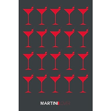 East Urban Home 'Martini Lover IV' Graphic Art Print on Canvas; 26'' H x 18'' W x 1.5'' D