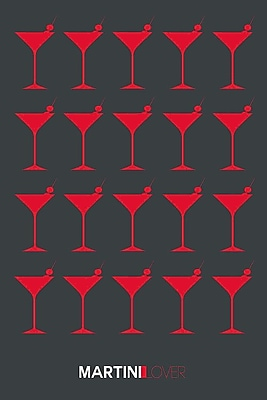 East Urban Home 'Martini Lover IV' Graphic Art Print on Canvas; 18'' H x 12'' W x 1.5'' D