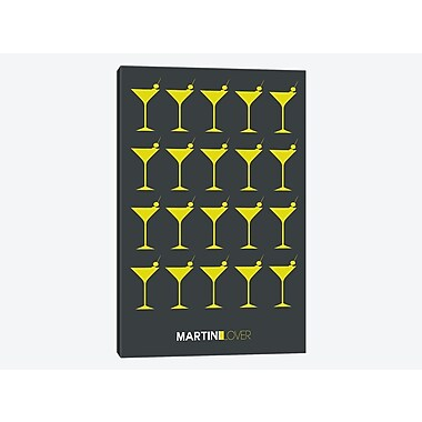 East Urban Home 'Martini Lover V' Graphic Art Print on Canvas; 26'' H x 18'' W x 1.5'' D