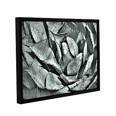 Ebern Designs 'Perry Agave H' Framed Graphic Art Print on Canvas; 8'' H x 10'' W x 2'' D